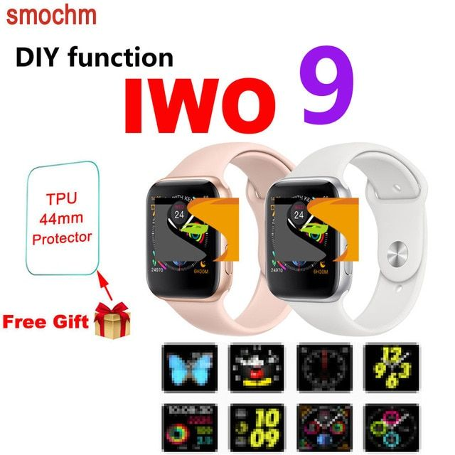 Smochm IWO 9 1:1 MTK2502C Wrist Smart Watch Wireless Charge Smartwatch 44MM Series 4 Updated for Apple Watch Iphone Andriod