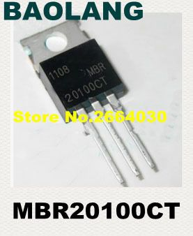 10pcs free shipping MBR20100CT MBR20100 MBR20100C SSchottky & Rectifiers 20A 100V TO-220 new original