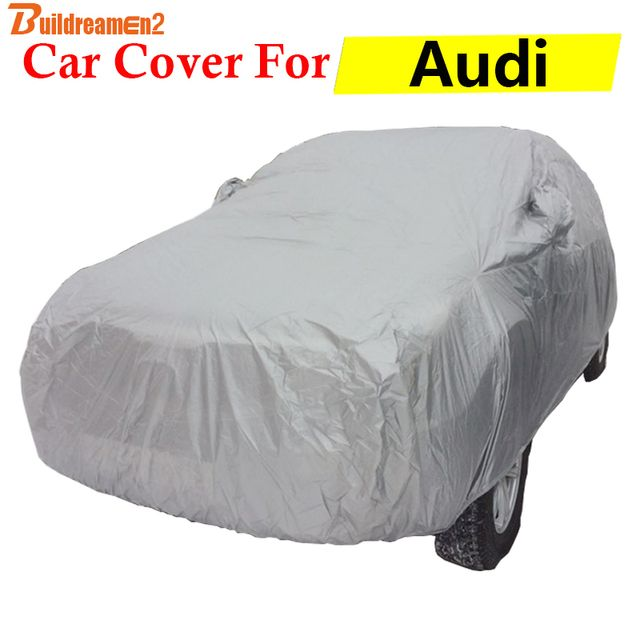 Buildreamen2 Car Cover For Audi 90 A1 A3 S7 S6 S5 Auto Outdoor Indoor Anti-UV Sun Rain Snow Protector Scratch Resistant Cover