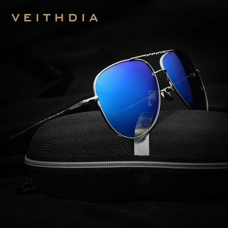 VEITHDIA Brand Fashion Men's  Sun Glasses Polarized Color Mirror Lens Eyewear Accessories Female Sunglasses For Women Men 3610