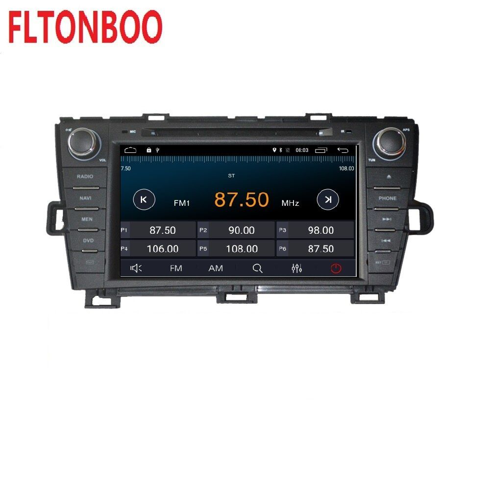 Android 9.1 for Toyota prius right 2din car dvd,gps navigation,wifi,radio,bluetooth,Steering wheel Free 8g Map,mic,touch screen