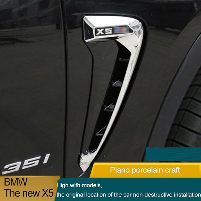 For BMW X5 F15 F16 2014 2015 2016 Car Side Air Flow Fender Cover Trim Sticker Decoration Auto Accessories Car-Styling Man