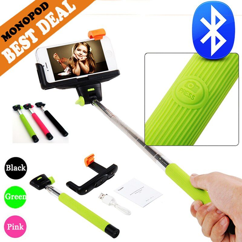 EASTTOWEST Z07-5 Bluetooth Selfie Stick Palo Selfie Extendable Handheld Self-Portrait Monopod For Xiaomi Iphone Samsung  Huawei