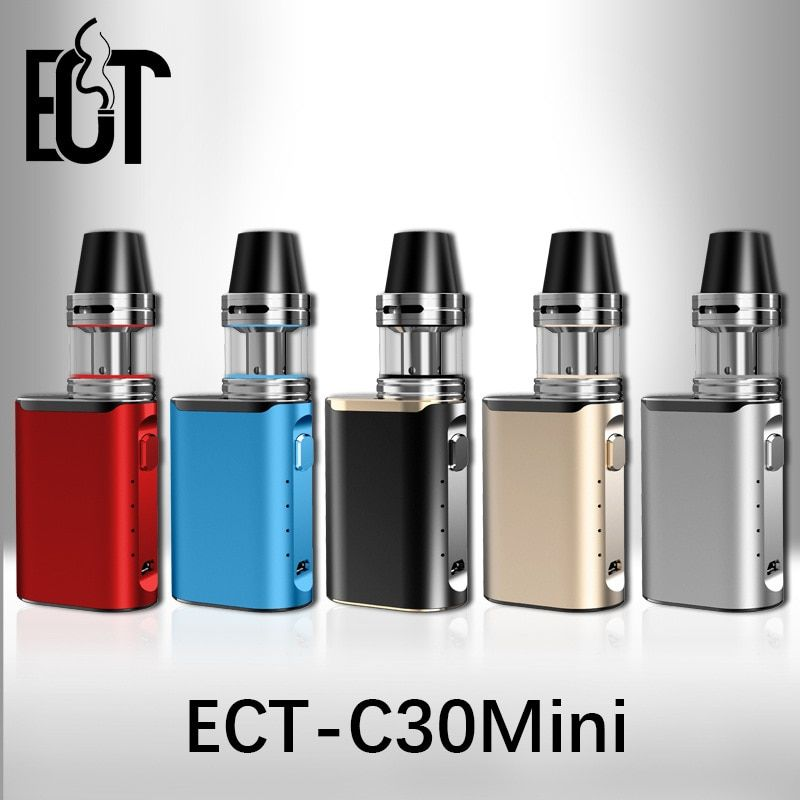 Original electronic cigarette box mod ECT C30 mini battery with Atomizer 2ml ect c30mini 30w vaporizer vape mod kit