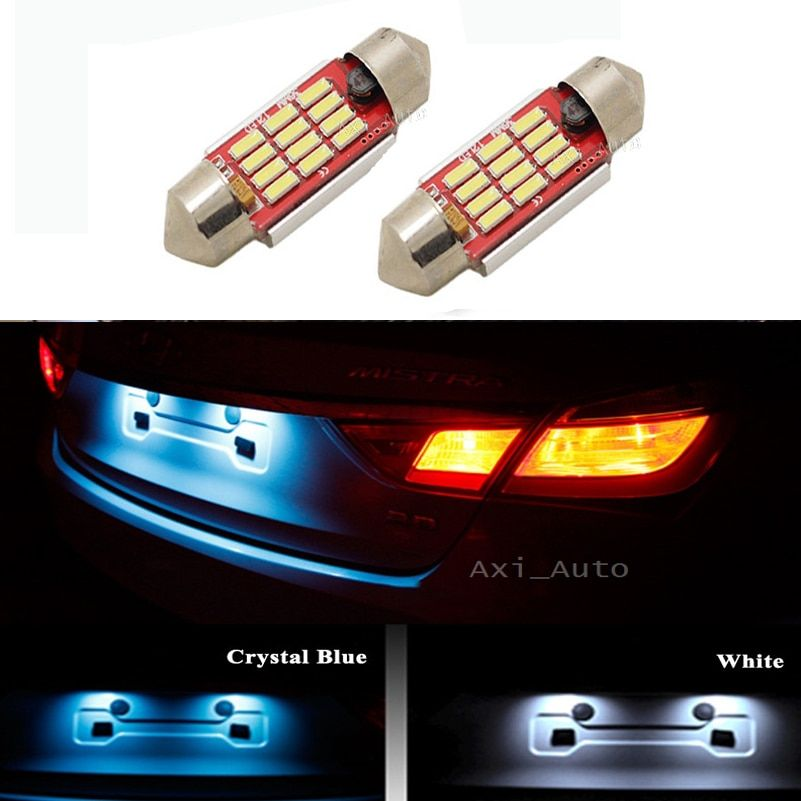 2x Canbus No Error 36MM C5W LED License Plate Light for BMW E36 E39 E46 E90 E91 E92 E53 E60 E65 E71