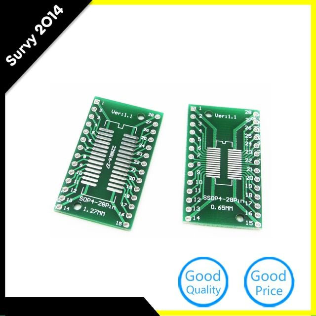5pcs TSSOP28 / SSOP28 to DIP28 Pinboard SMD to DIP Adapter 0.65/1.27mm
