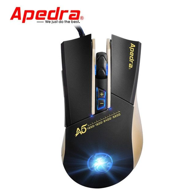 Reliable  Gaming Mouse 3200DPI LED Optical 6D USB Wired Gaming Game Mouse For PC Laptop Game