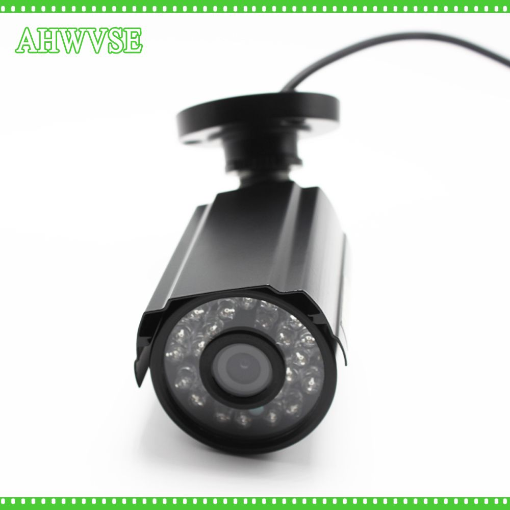 AHWVSE 2MP HD CCTV 1080P AHD Camera 3000TVL Outdoor Waterproof Mini Small Metal White Bullet IR Security Surveillance Cam