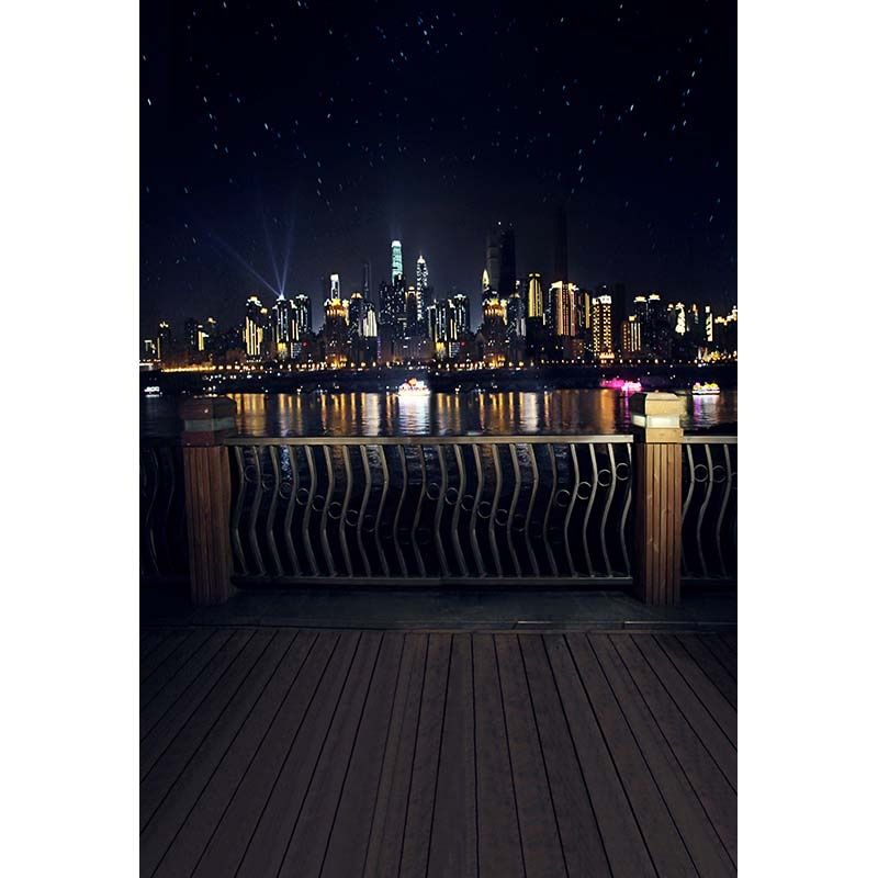 Custom vinyl cloth New York city night scenery photography backdrops for wedding model children studio portrait backgrounds