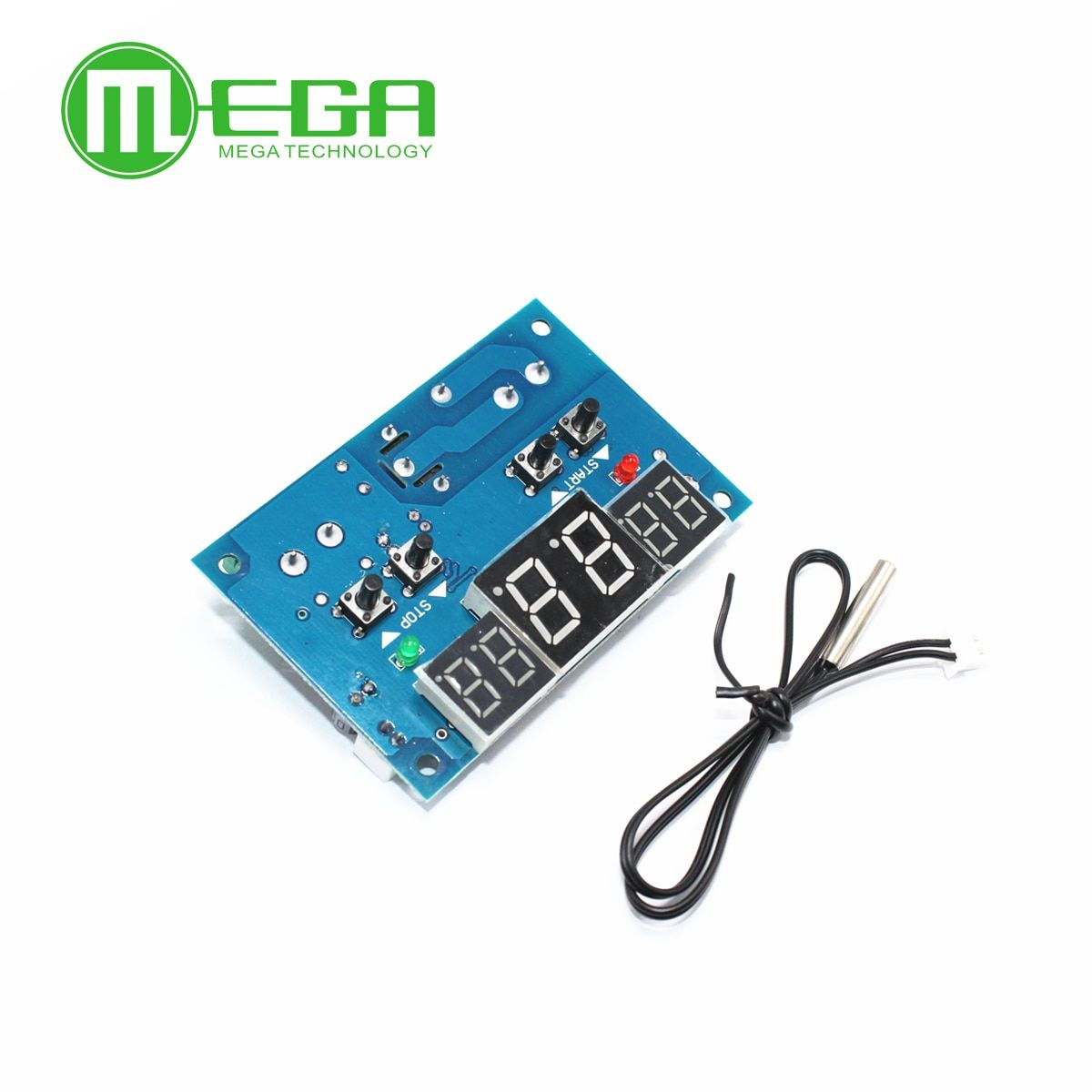 10pcs DC12V thermostat Intelligent digital thermostat temperature controller With NTC sensor W1401 led display