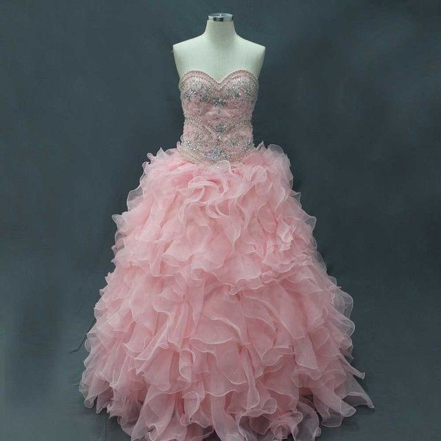 2015 FANCY REAL PHOTOS BALL GOWN CRYSTALS BEADING SEQUINED SWEETHEART FUFFLES ORGANZA QUINCEANERA DRESSES SHORT AND LONG LENGTH