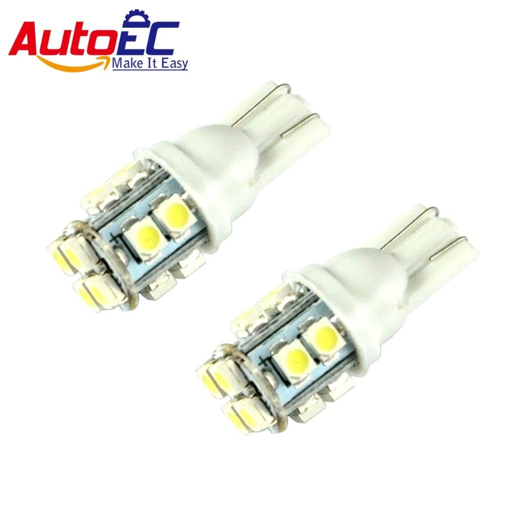 AutoEC LED lamps SMD1210 14 LED W5W T10 LED Bulb Light Lamp Car Side Wedge Light Bulbs DC 12V White 300pcs #LB82