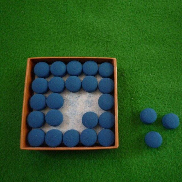 50pcs Table Cue Tips Laminated  Blue Color Pool Snooker  9mm/10mm/11mm/12mm/13mm