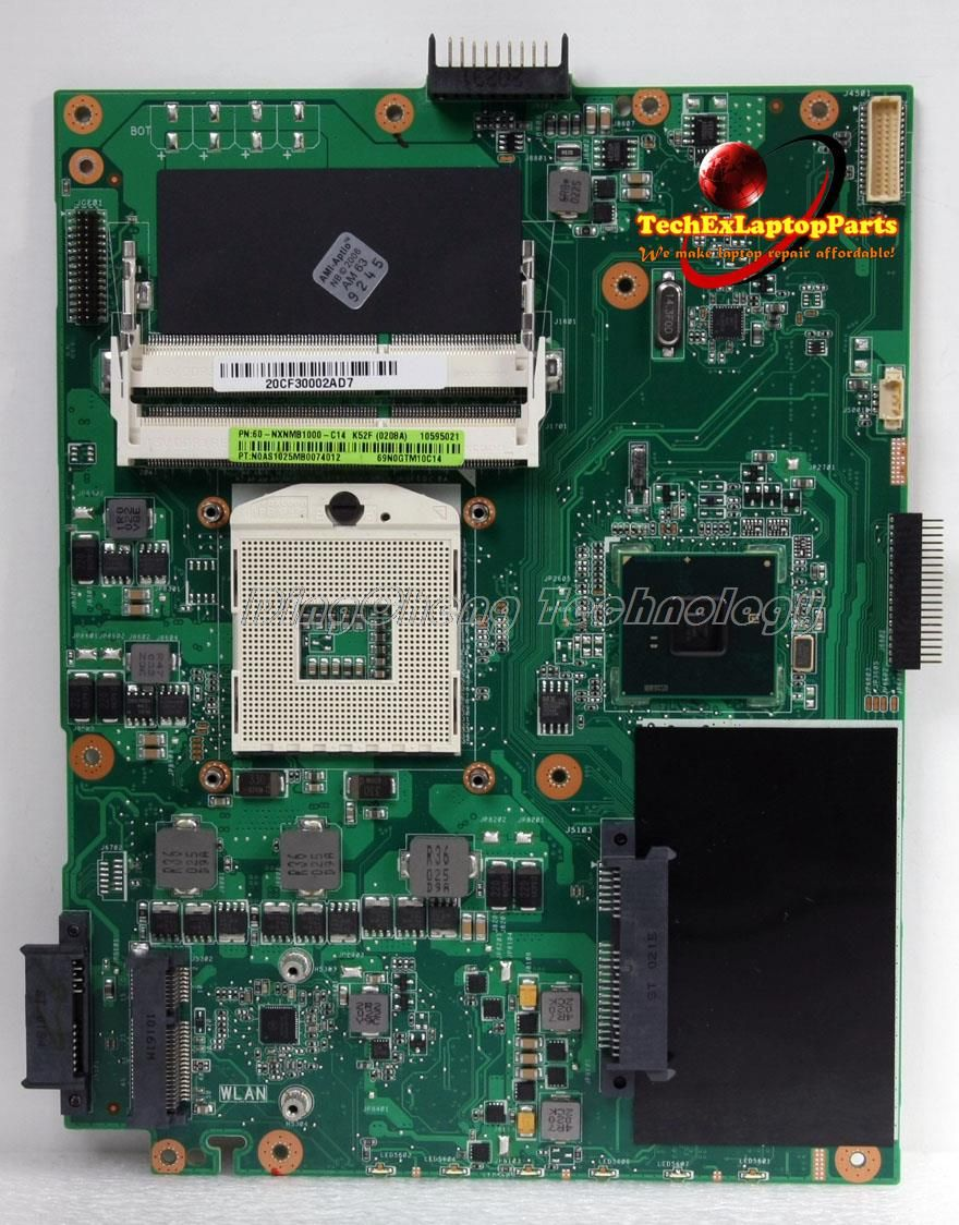 45 days Warranty  laptop Motherboard for Asus K52F with integrated graphics card rev 2.2 100% tested