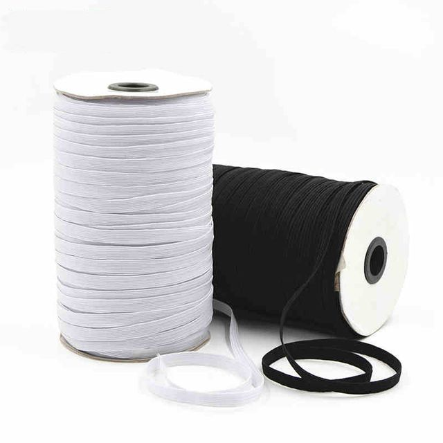 130meters/lot Elastic Band Rubber Rope For Garment Sewing Clothing Accessories 3mm/6mm /8mm Width DIY Handmade String Cords