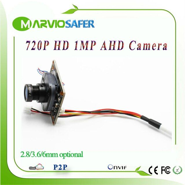 720P 1MP HD AHD AHD-L Analog High Definition CCTV Camera module board with OSD Built-in ircut and lens