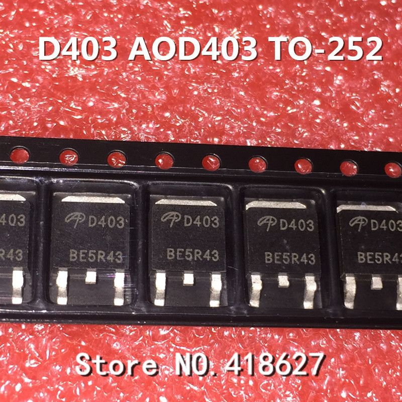 50PCS/LOT New AOD403 D403 TO-252 85A/30V MOS FET