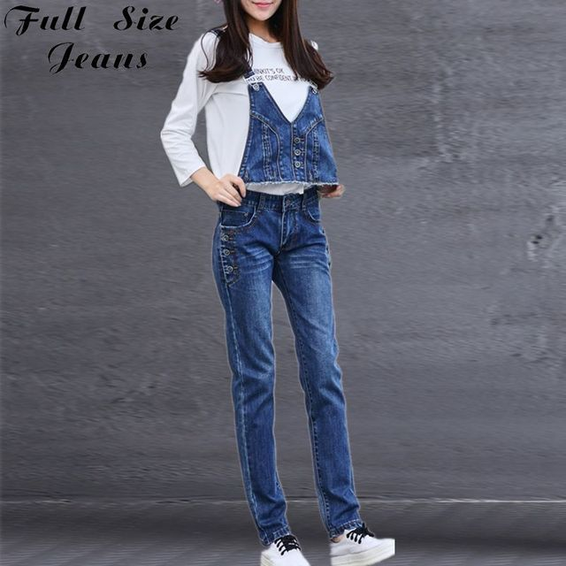 Autumn Plus Size Detachable Denim Jumpsuits Women Fashion Casual Large Size Romper 4Xl 6Xl 7Xl XS M XL Oversized Korean Overalls