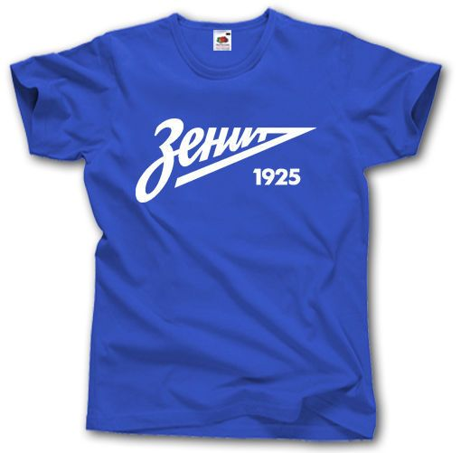 ZENIT ST PETERSBURG T-SHIRT S - XXL RUSSIA FOOTBALLER CAMISETA FUTBOL SOCCERER ULTRAS Pure Cotton Round Collar Men T SHIRT