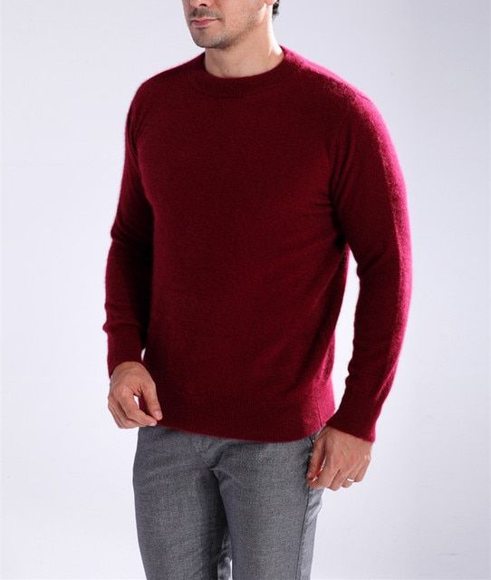 2015 New Arrive Winter Fashion Mink Cashmere Sweater O-Neck Solid Warm Pullover Sweaters for Men Hot-Sales High Quality S-XXXL