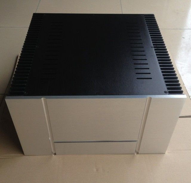 B-005  CNC All Aluminum Cabinet Chassis Case Box Cabinet for DIY Audio Power Amplifier   430mm*250mm*413mm 430*250*413mm