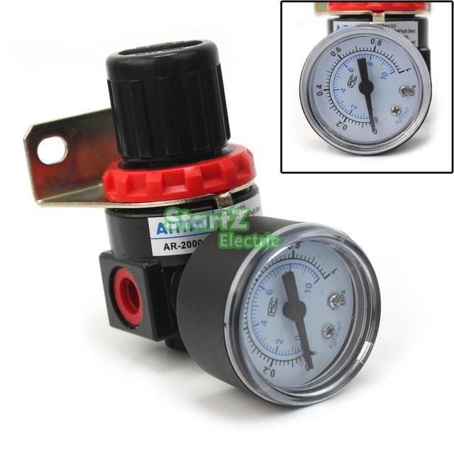 AR-2000 G1/4'' Pneumatic mini air pressure regulator air treatment units