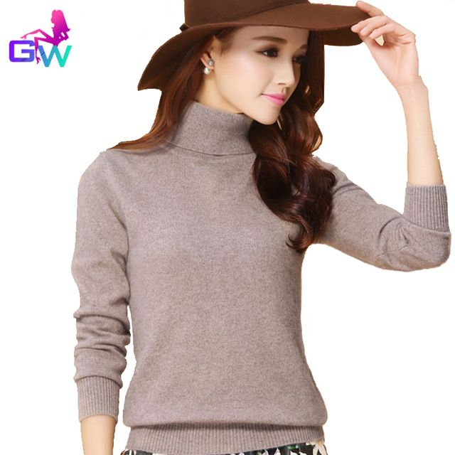 Sweater Women 2016 Warm Winter Autumn Turtleneck Soft Comfortable Women Sweaters and Pullovers 13 Color Cashmere Sweater