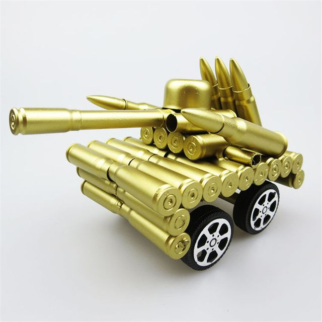 Four-round Tank Military Model Decoration Artificial Bullet Shell Furnishing Article Meaningful Gift Souvenirs Craft Collections
