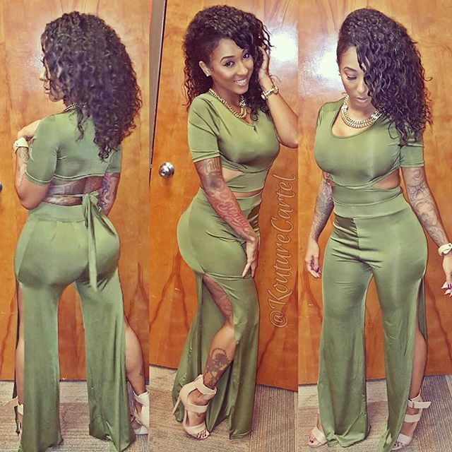 2017 Sexy Jumpsuits Stylish Green Rompers Womens Jumpsuit Bodycon Elegant Bodysuit For Women