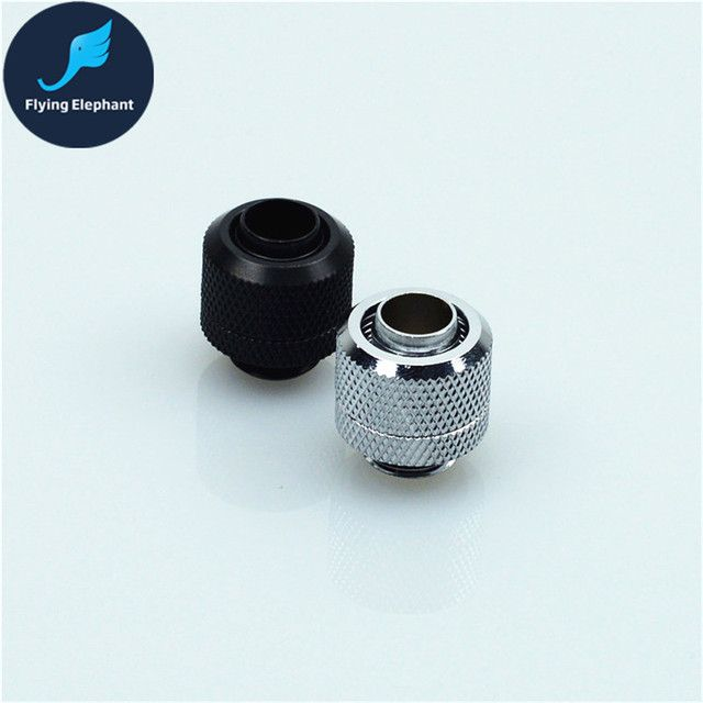 1 Piece Water Cooling Two-Touch hand compression Fitting Hand quick Twist Joint For 3/8'' PVC Tube 9.5x12.7mm computer cooling