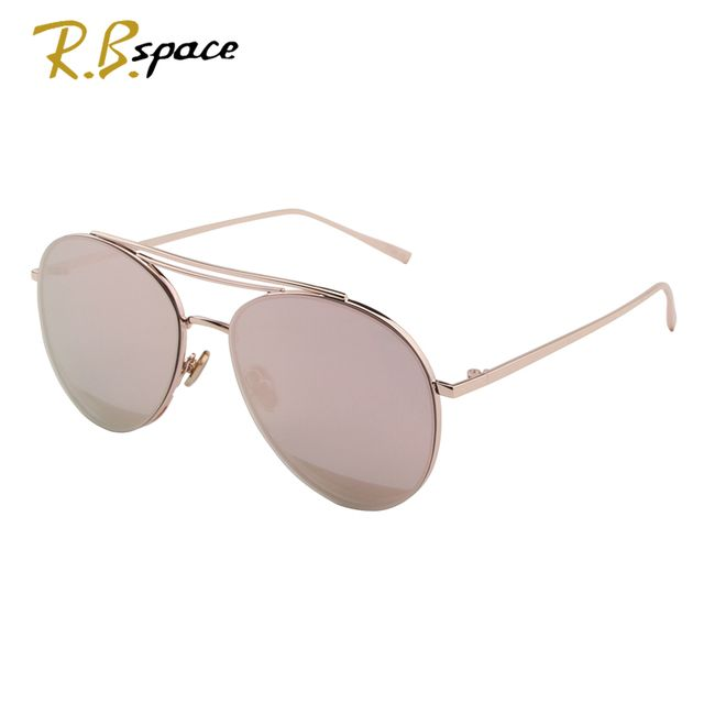 R.B.space new hot Vintage oval Sunglasses Women Luxury Brand Designer Female Sunglass fashion high quality metal sunglasses men