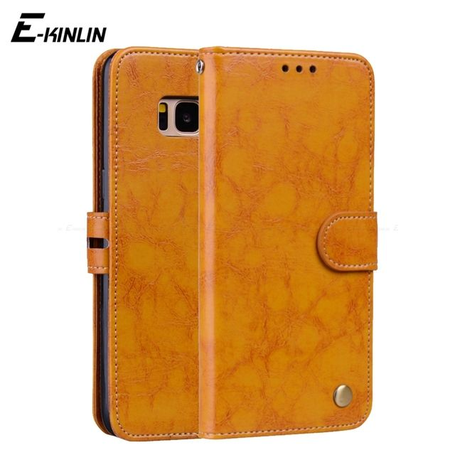 Wallet Stand Flip Leather Cover For Samsung Galaxy Note 8 S7 S6 edge S8 S9 Plus S5 S4 S3 mini Credit Card Holder Protective Case