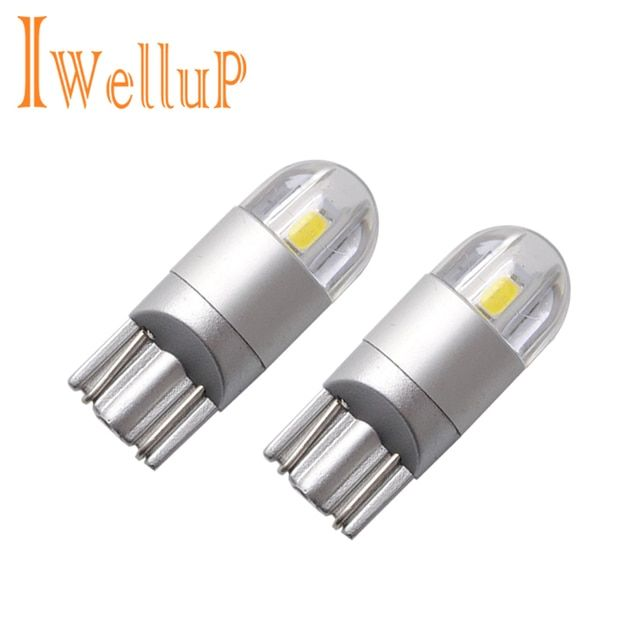 2x Car-Styling T10 W5W LED Clearance Lights Reading Lights Car W5W LED T10 License Plate Lights Trunk Lamp DC 12V
