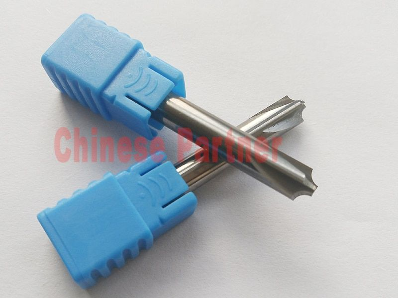 1pc  D6*50L*R2.5 HRC50 Solid carbide chamfering milling cutter Chamfer route bits for Aluminum knife tools