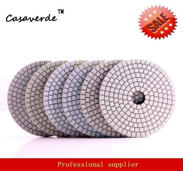 Standard class 125mm dry and wet 5 inch polishing pads for polishing stone and concrete