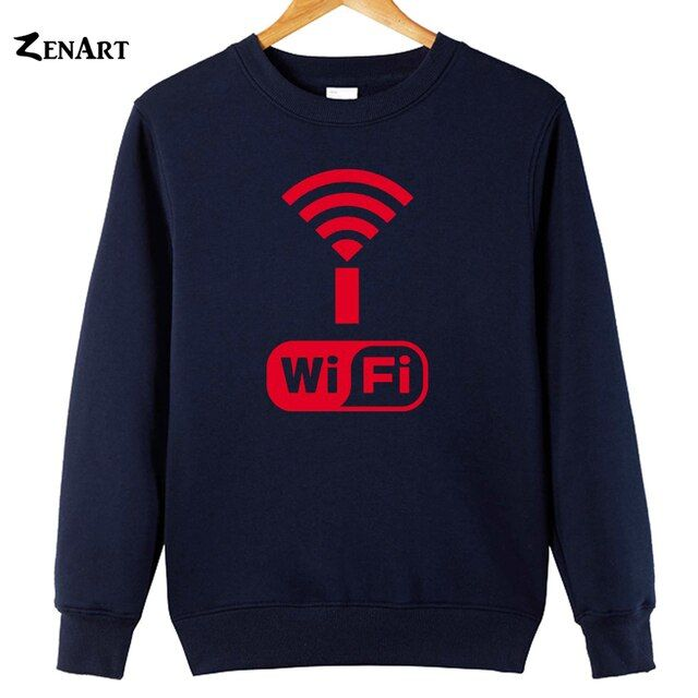 Wifi Symbol Wi-Fi Alliance wireless local area network couple clothes woman Sweatshirts