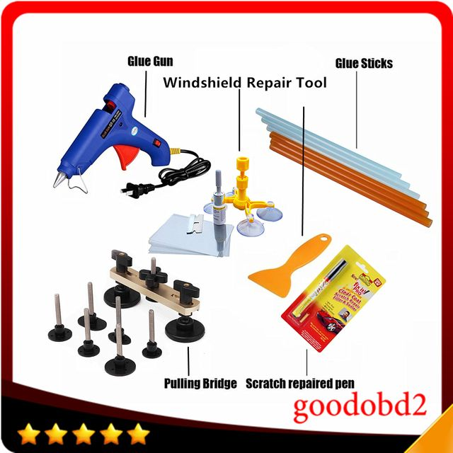 PDR Tools Paintless Dent Repair Tool Glue Gun Dent Remove Bridge Car Scratch Repaire Pen with Windscreen Windshield Repair Kit