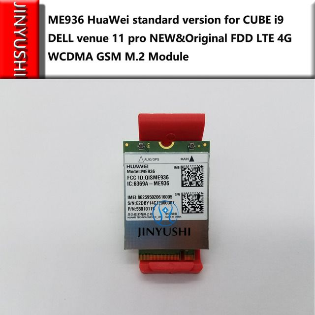 JINYUSHI For ME936 instead of ME906E very well for CUBE i9 DELL venue 11 pro 4G  NEW&Original FDD LTE 4G WCDMA  GSM  M.2 Module