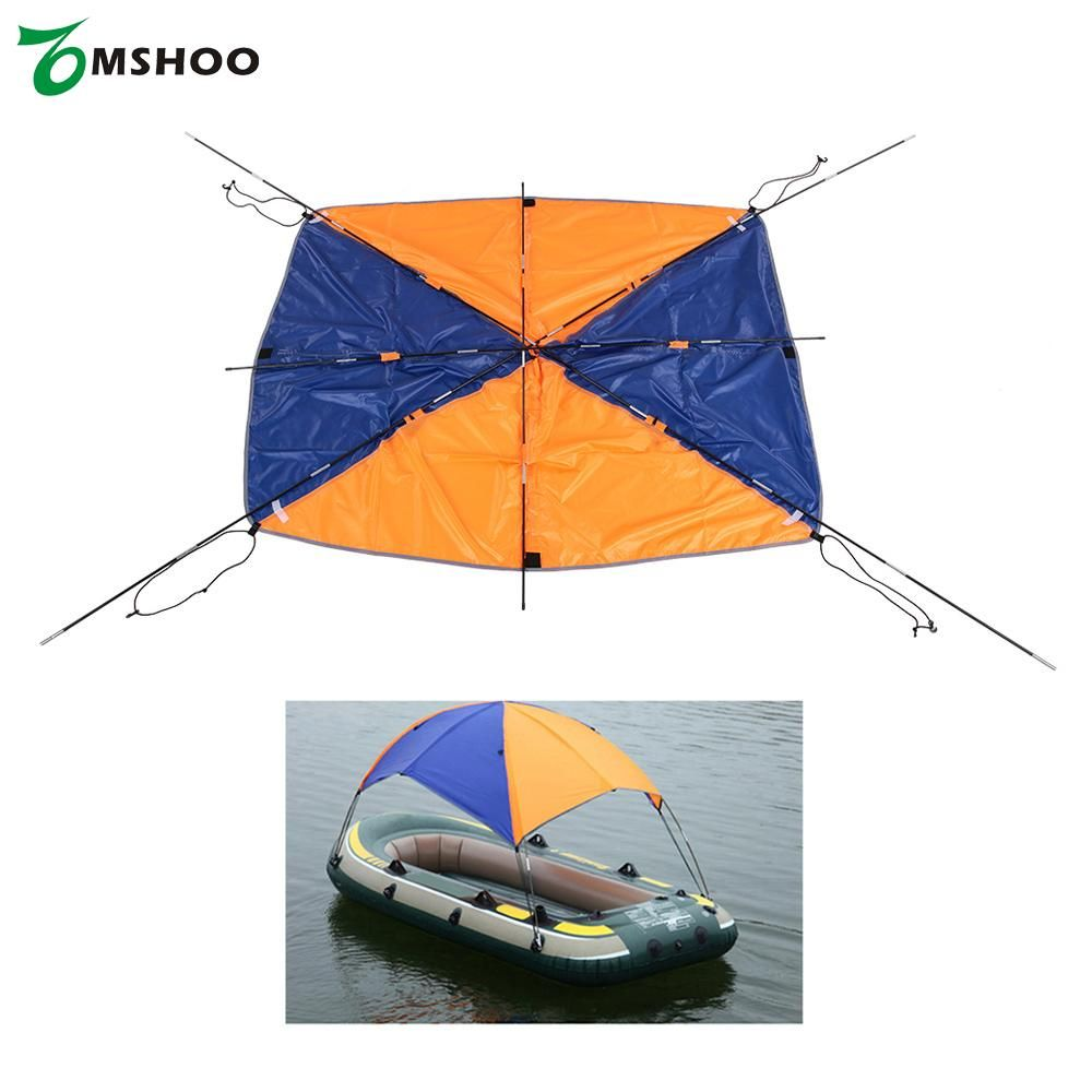 2-3 person Kayak Boat Sun Shelter Sailboat Awning Top Cover Kayak Fishing Tent Sun Shade Rain Canopy with Hardware Kayak Awning