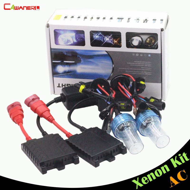 Cawanerl 55W 9006 HB4 Xenon Ballast Lamp HID Kit 3000K 4300K 6000K 8000K Car Conversion Headlight Fog Daytime Running Light DRL