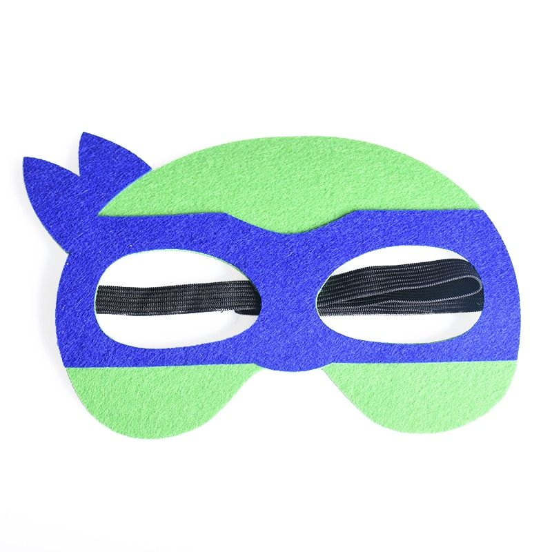 1pc Ninja Turtle Adult Mask TMNT Purple Halloween Mask Superhero Costumes Festival Children's Day Birthday Party Masks Supplies