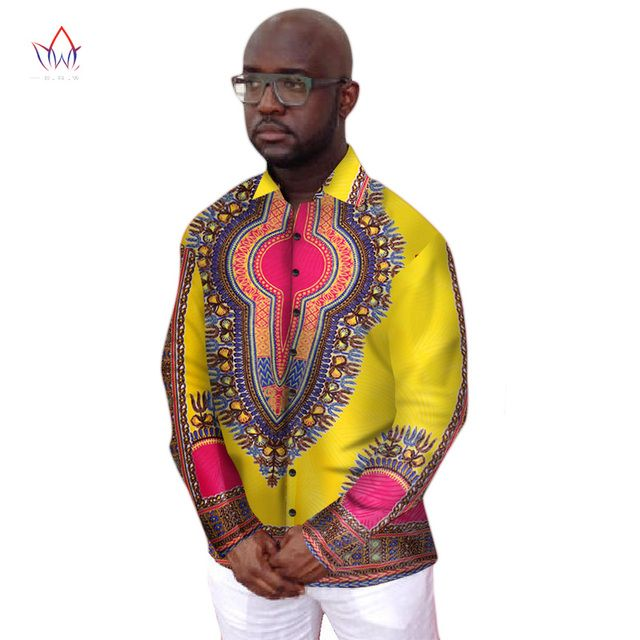 Private Custom Designs Brand Clothing Dashiki Men Shirt Long Sleeve Dashiki African Clothing Mens Clothes Plus Size 6XL WYN155