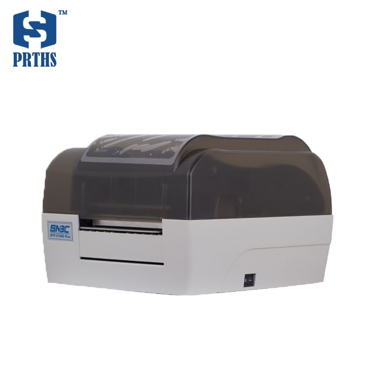BTP-2100E plus barcode label desktop printer with transparent shell design for washing mark, jewelry tag, clothing price tag