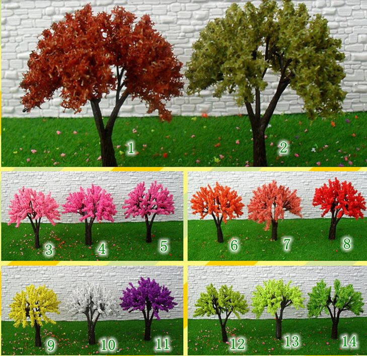 6cm scale model color tree for HO scale train Architecture model train layout scenery