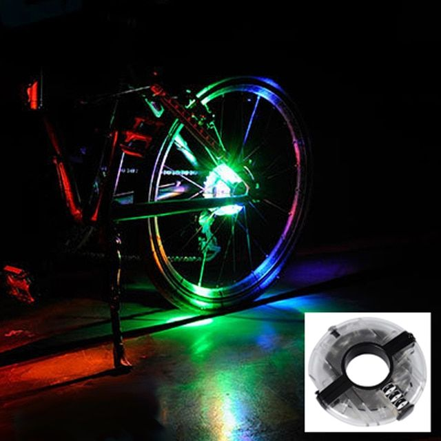 Easy Installing Anti-shock Waterproof Bicycle Lights Bicycle Hubs Front Tail Led Spoke Wheel Warning Lights