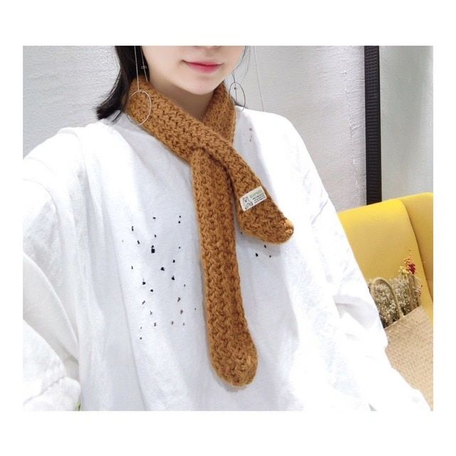 50pcs/lot Korea Style Solid Knitting Scarf  couples Cross Warm Winter Infinity Scarf