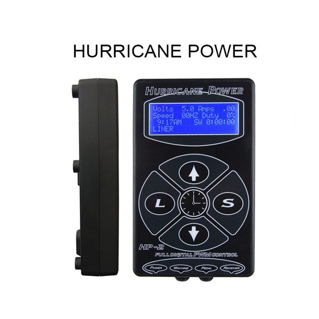 Hot Selling Black HP-2 Hurricane Tattoo Power Supply Digital Dual LCD Display Tattoo Power Supply Machines For Tattoo Machines