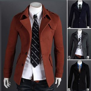 2016 men jackets coats autumn new arrival slim fit blazer fashion design turn down collar military jacket blazers jaquetas WS348