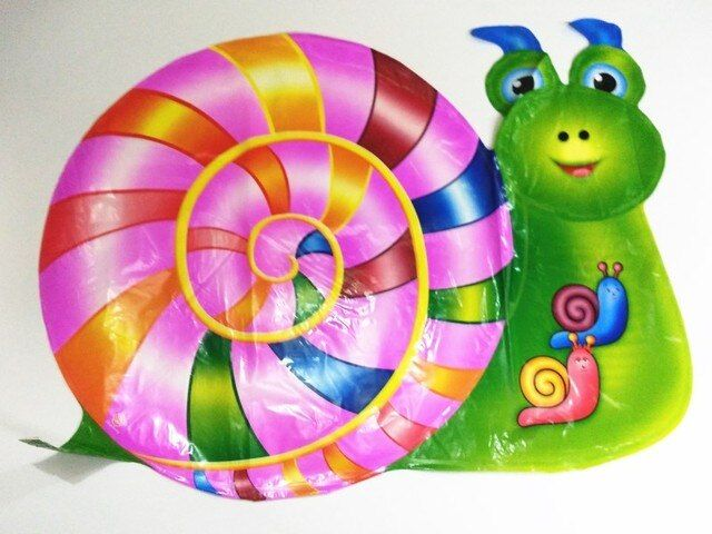 Hot Sale Snail Foil Balloons Cartoon Helium Balloon Kids Toys Children Birthday Party Balloons 59cmx44cm