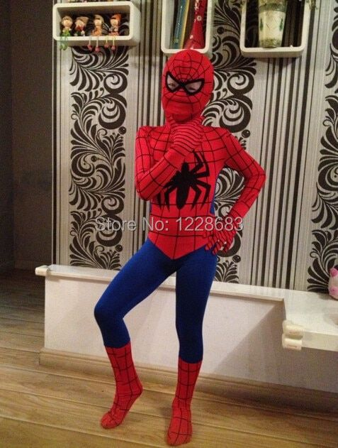 Fantasy Child Kids Superhero Spiderman Costume Fantasia Infantil Menino Homem Aranha Fantasy Halloween Costumes For Kids Boy